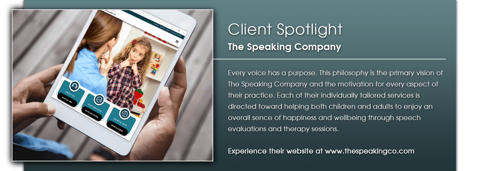 Client Spotlight - The Speaking Company website launch